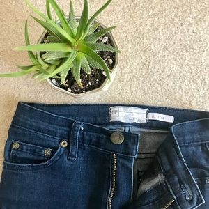 Free People hi rise jeans (succulent not included)